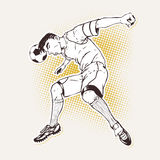 Soccer player heading the ball Royalty Free Stock Photography