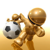 Soccer player icon Stock Photo