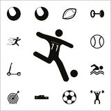 Soccer player icon. Detailed set of Sport icons. Premium quality graphic design sign. One of the collection icons for websites, we. B design, mobile app on white Stock Photography