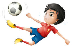 A soccer player. Illustration of a soccer player on a white background Stock Images
