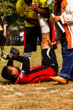 Soccer player injured Royalty Free Stock Images