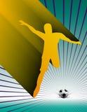Soccer Player. Kicking a ball Stock Image