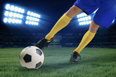Soccer player kicking the ball 1 Stock Image