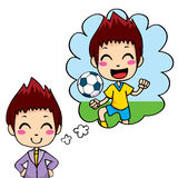 Soccer Player Kid Stock Image