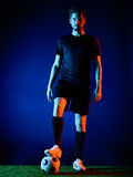 Soccer player Man isolated Stock Photos