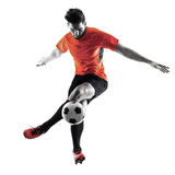 Soccer player Man Isolated silhouette Stock Photography