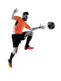 Soccer player Man Isolated silhouette Stock Image
