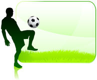 Soccer Player with Nature Frame Stock Images