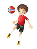 A soccer player from Norway Royalty Free Stock Images