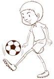 A soccer player Royalty Free Stock Photos