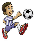 Soccer player playing the ball. Vector of soccer player playing the ball Royalty Free Stock Images