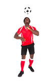 Soccer Player Playing With Football Royalty Free Stock Photo
