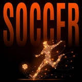Soccer player polygonal Royalty Free Stock Images