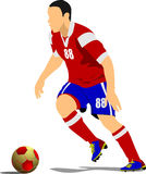 Soccer player poster. Stock Image
