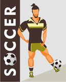 Soccer player poster Stock Photo