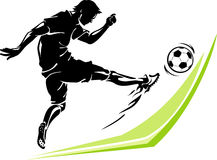Soccer Player Power Kick Royalty Free Stock Image