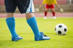 Soccer player preparing free kick Stock Photos