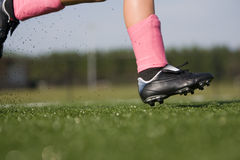 Soccer player running Stock Photo