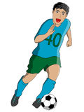 Soccer player running Stock Images