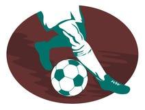 Soccer player running vector illustration