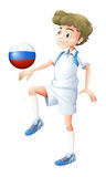 A soccer player from Russia Stock Photos