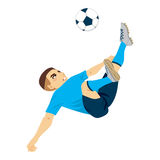 Soccer Player Scissor Kick Royalty Free Stock Photo