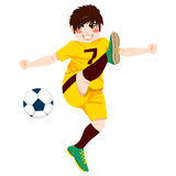 Soccer Player Shooting Royalty Free Stock Image
