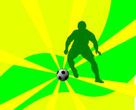 Soccer player silhouette Royalty Free Stock Image