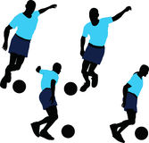 Soccer Player silhouette. EPS 10 vector illustration of Soccer Player silhouette Royalty Free Stock Photo
