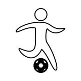 Soccer player silhouette icon. Vector illustration design Stock Photos