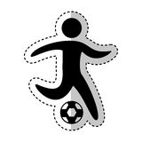 Soccer player silhouette icon. Vector illustration design Stock Photography