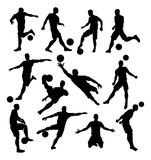 Soccer Player Silhouettes Stock Photo