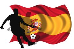 Soccer player Spain Royalty Free Stock Images
