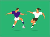 Soccer player sports Royalty Free Stock Image