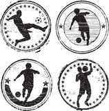 Soccer player stamps Stock Photo