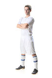 Soccer player standing Royalty Free Stock Images