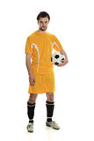 Soccer player standing Stock Photography