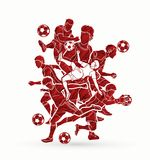 Soccer player team composition graphic vector. Soccer player team composition illustration graphic vector Royalty Free Stock Photo