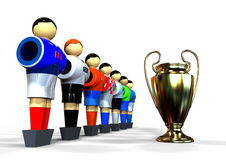 Soccer player with UEFA Cup concept Stock Photo