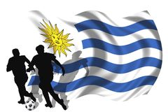 Soccer player Uruguay Stock Photos