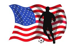 Soccer player USA Royalty Free Stock Photos