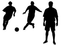 Soccer player vector Stock Photos
