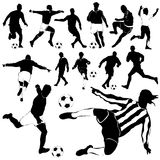 Soccer player vector Royalty Free Stock Photo