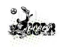 Soccer player in vector format Stock Photos