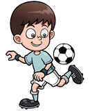Soccer player. Vector illustration of Soccer player Stock Photos