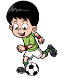 Soccer player. Vector illustration of Soccer player Royalty Free Stock Photography