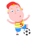 Soccer player. Vector illustration of soccer player with ball on white background Stock Photos