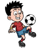 Soccer player. Vector illustration Cartoon Soccer player Royalty Free Stock Photos