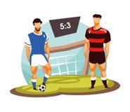 Soccer player vector Stock Photo