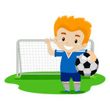 Soccer Player waving his Hand Royalty Free Stock Image